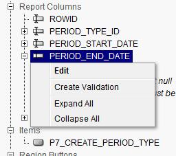 Oracle Apex Create Validation